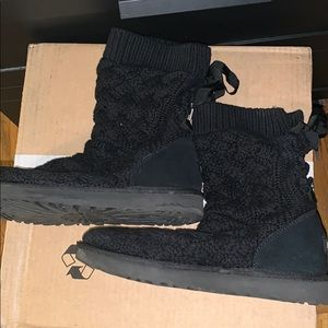 Ugg black sweater boots